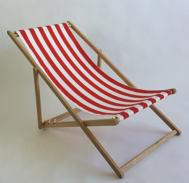 Striped Red And White Sling Chair 2 Available